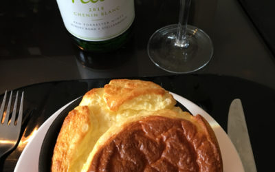 CHEESE SOUFFLE AND PETIT CHENIN
