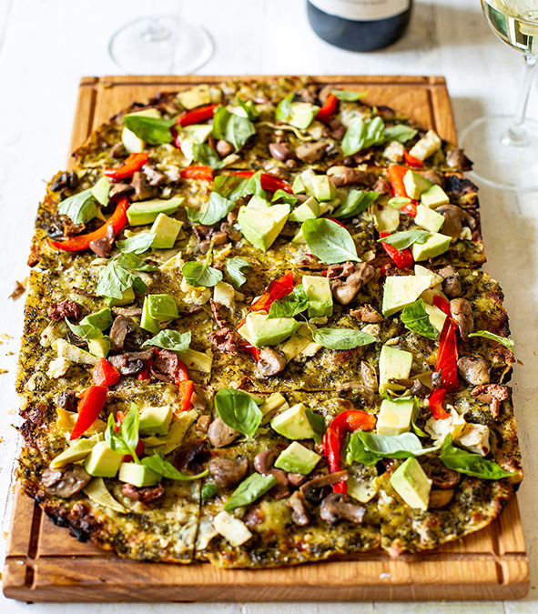 Constantia Glen goes green with delicious Vegan Flammkuchen