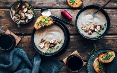 We make heavenly mushroom soup and delicate hake parcels