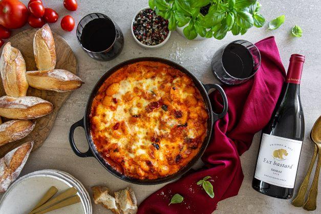 Hearty winter dish-baked chorizo gnocchi
