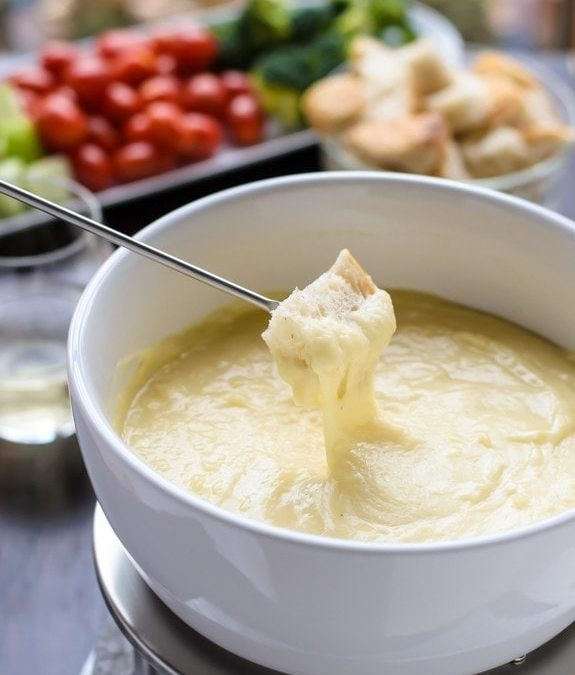 Classic cheese fondue at Greg's Table.
